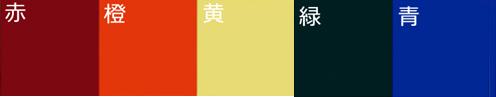 ホロライト用カラーフィルター 5種類(赤・橙・黄・緑・青)