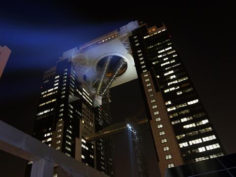 梅田スカイビルのスポット照明