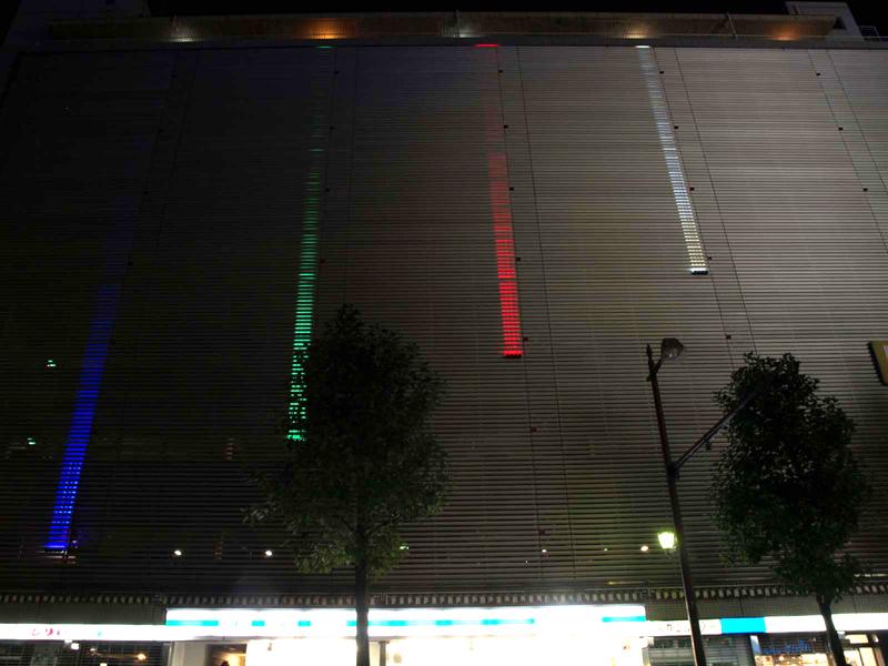 壁面直線照明