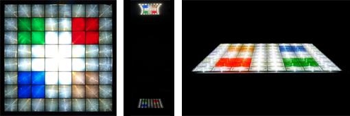 ホロライトを敷き詰めて光のステージを作成することができます。